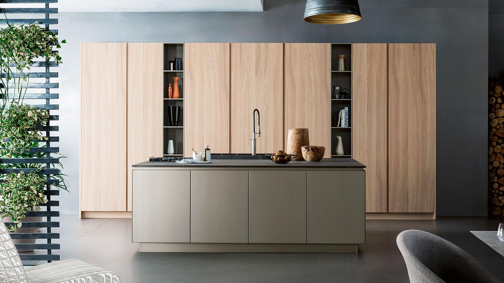 Cucina in pietra con isola T45 | Collezioni Cucine 2018 TM Italia - TM_CAT_T45_001