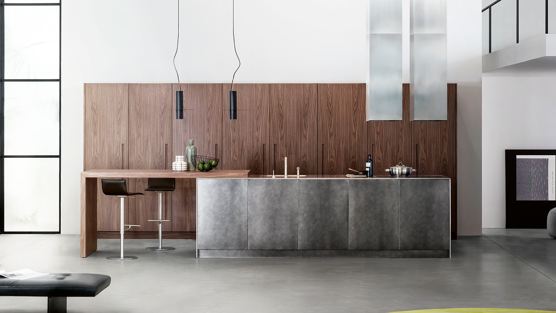 Cucina in legno e acciaio con isola D90 | Collezioni Cucine 2018 TM Italia - TM_CAT_D90_001
