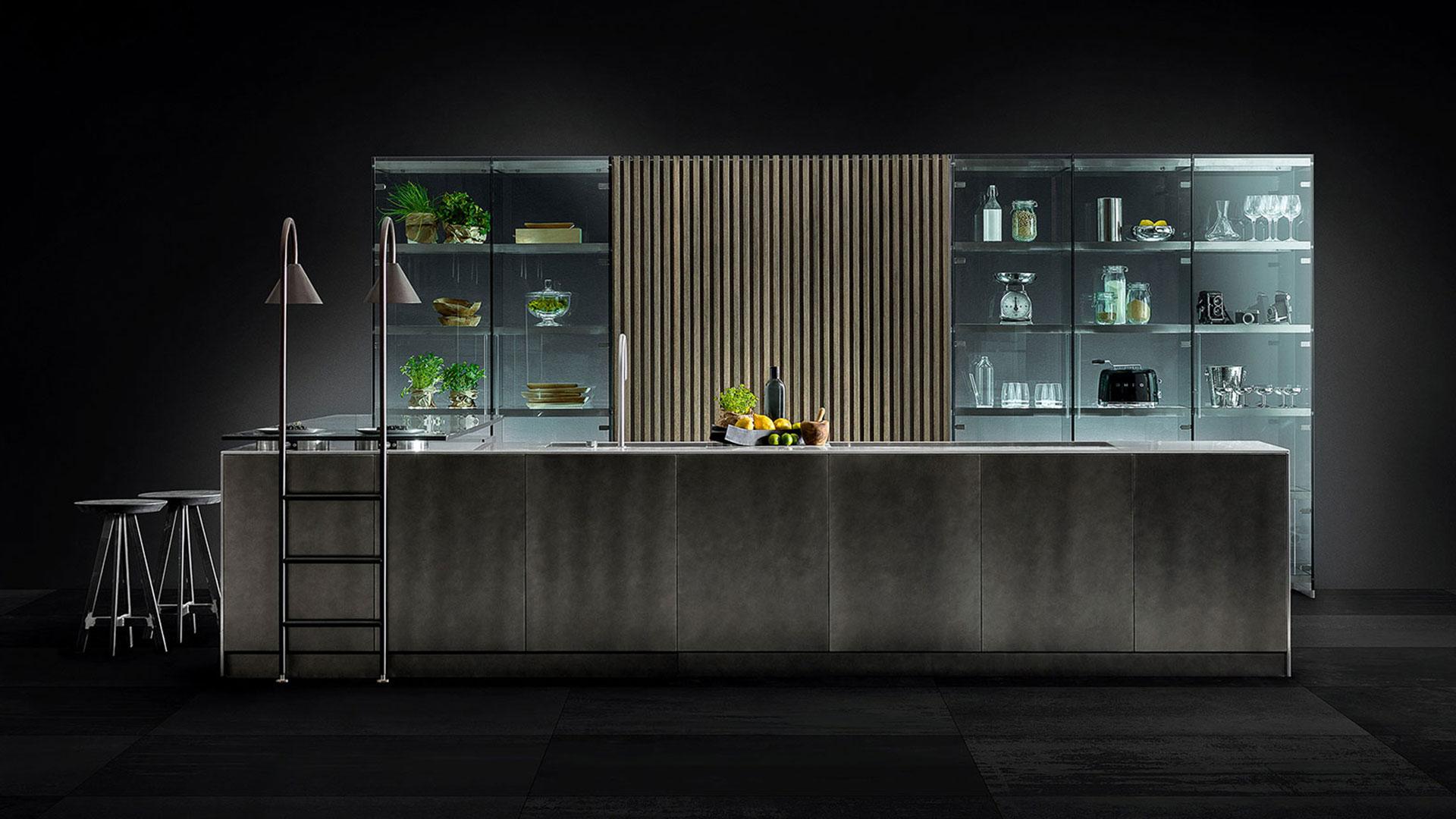 Cucina in legno e acciaio con isola D90 | Collezioni Cucine 2018 TM Italia - TM_CAT_D90_005