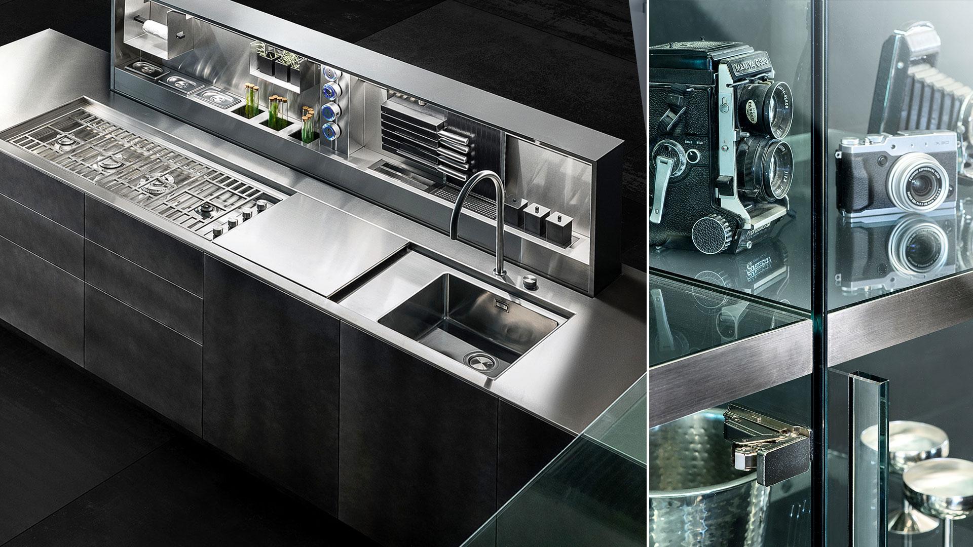 Cucina in legno e acciaio con isola D90 | Collezioni Cucine 2018 TM Italia - TM_CAT_D90_006