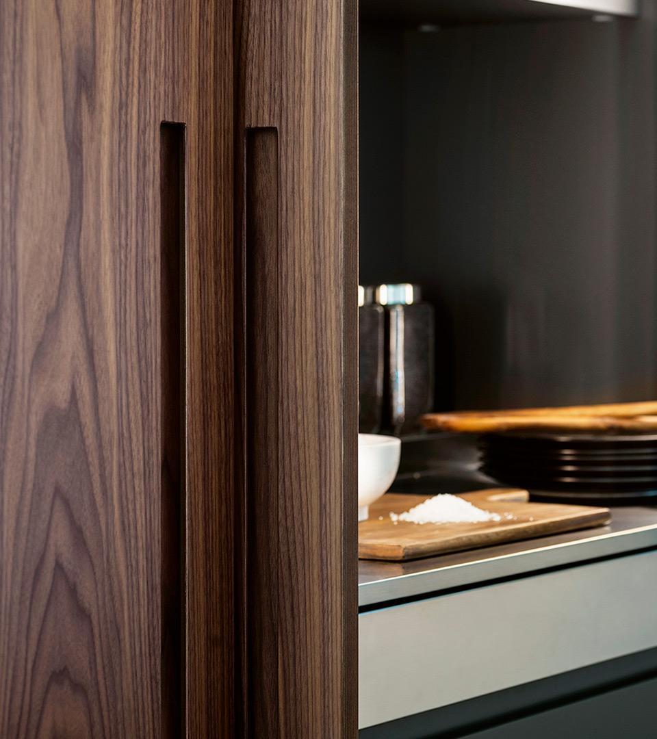 Wood & Steel Kitchen with island D90 | TM Italia 2018 Kitchens Collection - TM_CAT_D90_DETTAGLIO-CONCEPT2_parete-2