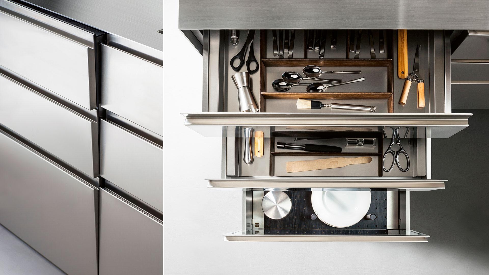 Cucina in legno e acciaio G180 | Collezioni Cucine 2018 TM Italia - TM_CAT_G180_003