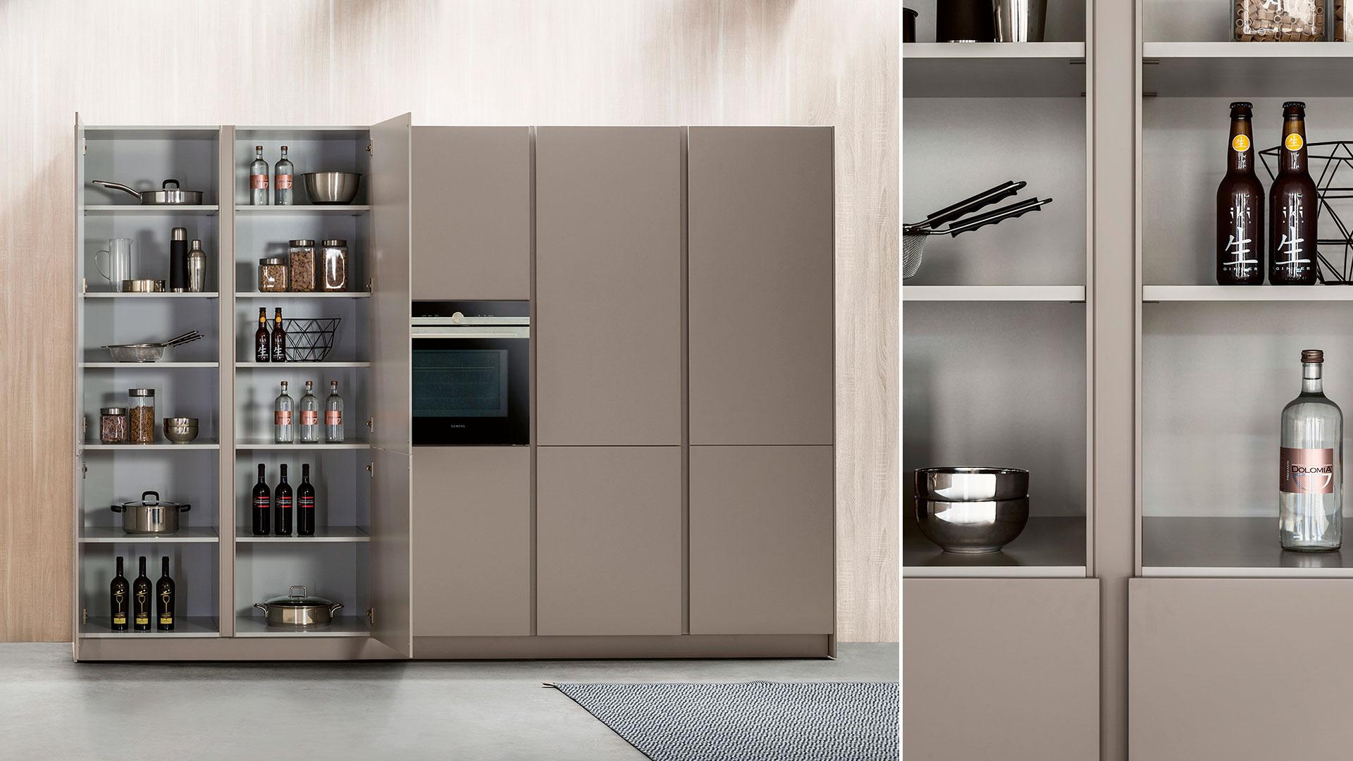 Freestanding modern kitchen in Corian | TM Italia 2018 Kitchens Collection - TM_CAT_K6_002
