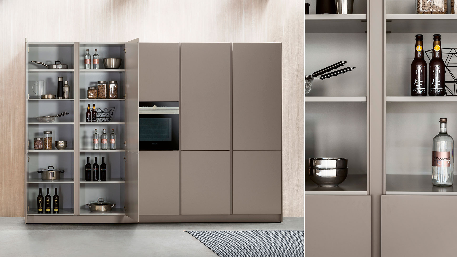 Cucina moderna freestanding in corian K6 | Collezioni Cucine 2018 TM Italia - TM_CAT_K6_002