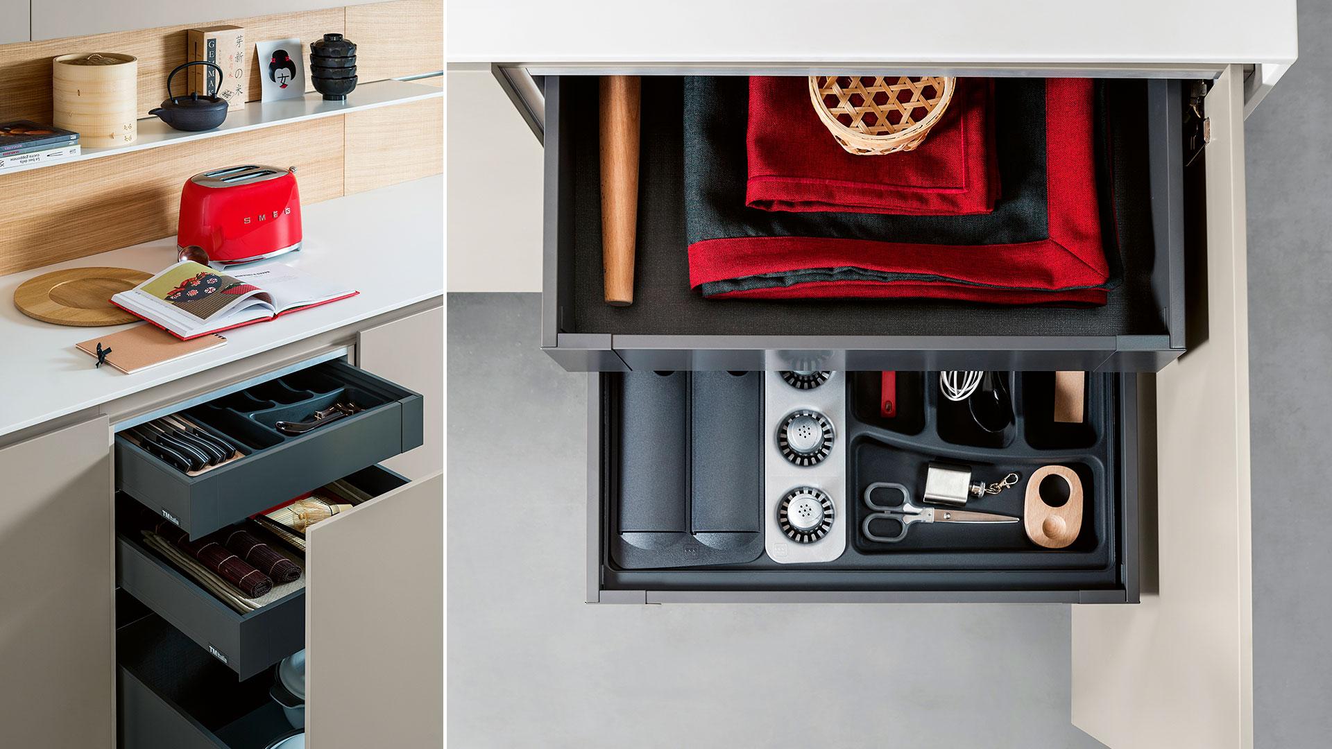 Freestanding modern kitchen in Corian | TM Italia 2018 Kitchens Collection - TM_CAT_K6_004