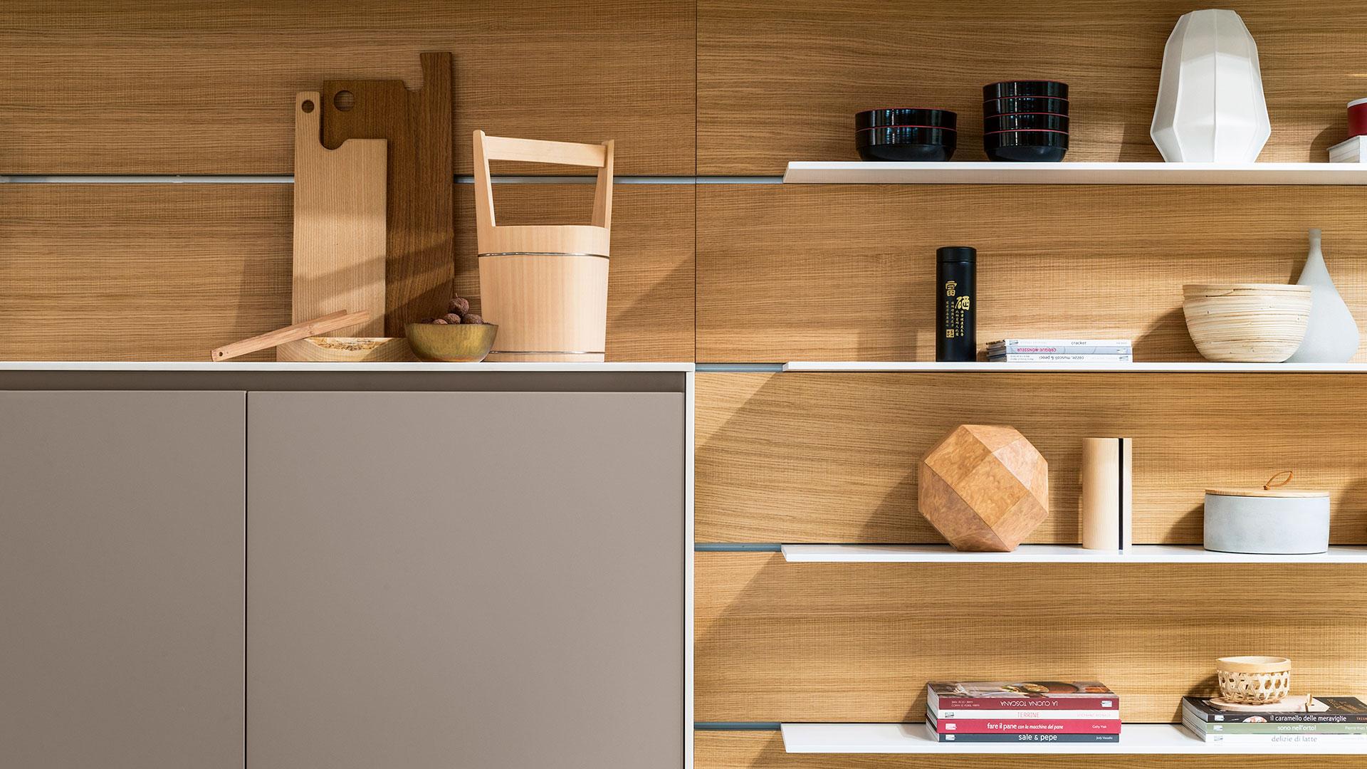 Freestanding modern kitchen in Corian | TM Italia 2018 Kitchens Collection - TM_CAT_K6_005