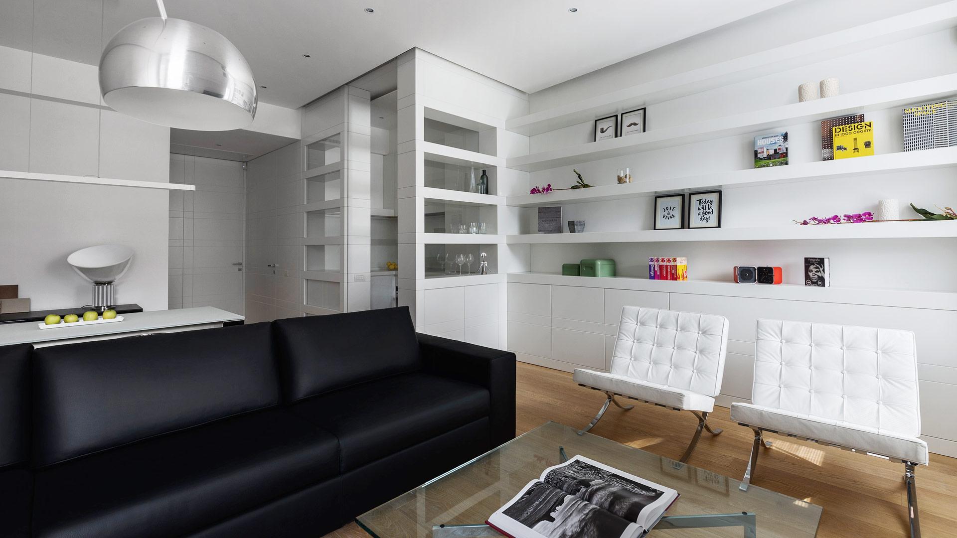 Interior: Private apartment in Rome with a simple, unique and functional design - TM Italia - Area-contract-Cicchetti-02