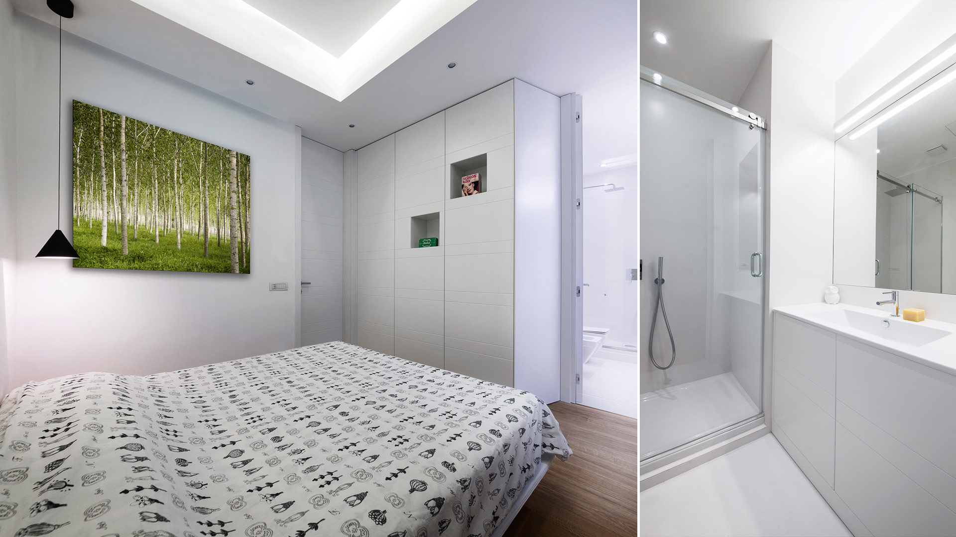 Interior: Private apartment in Rome with a simple, unique and functional design - TM Italia - Area-contract-Cicchetti-04