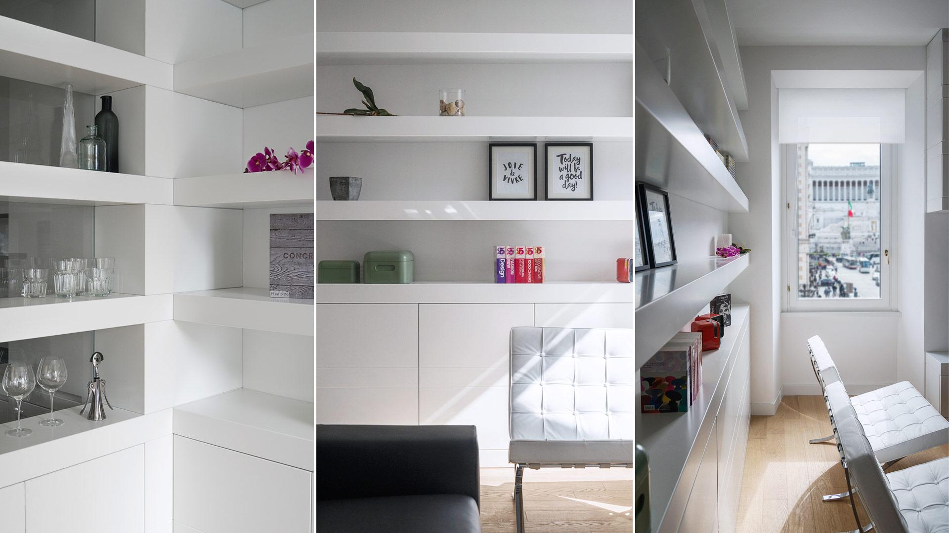 Interior: Private apartment in Rome with a simple, unique and functional design - TM Italia - Area-contract-Cicchetti-06