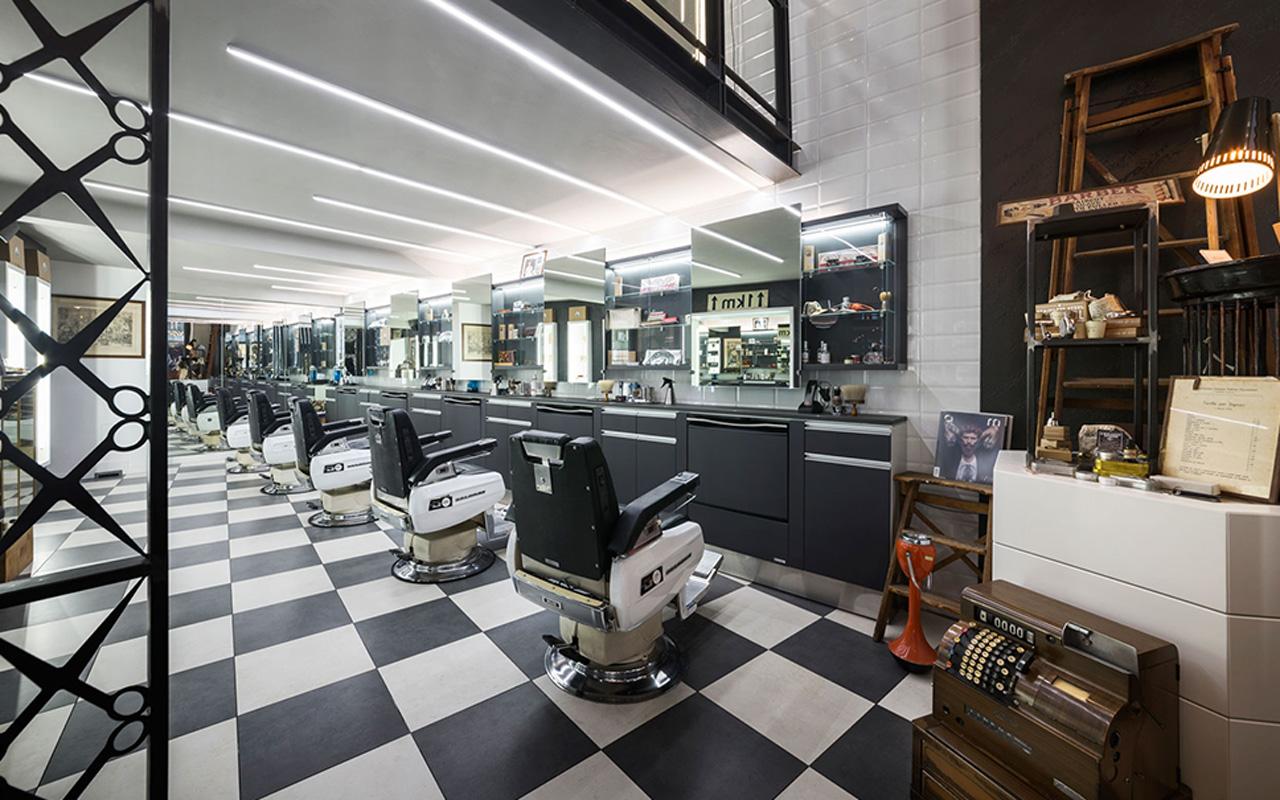 Progetto Contract Retail Salone di bellezza Mauri Lugano - TM_CH_LU_MAURI_parruchieria01