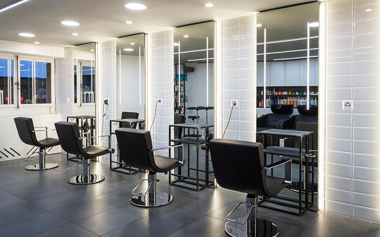Progetto Contract Retail Salone di bellezza Mauri Lugano - TM_CH_LU_MAURI_parruchieria02