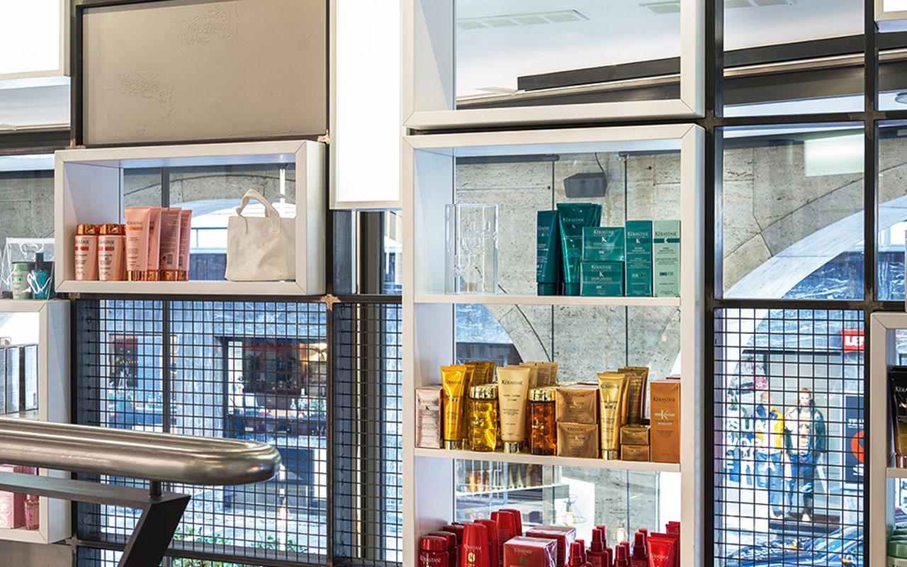Progetto Contract Retail Salone di bellezza Mauri Lugano - TM_CH_LU_MAURI_parruchieria04