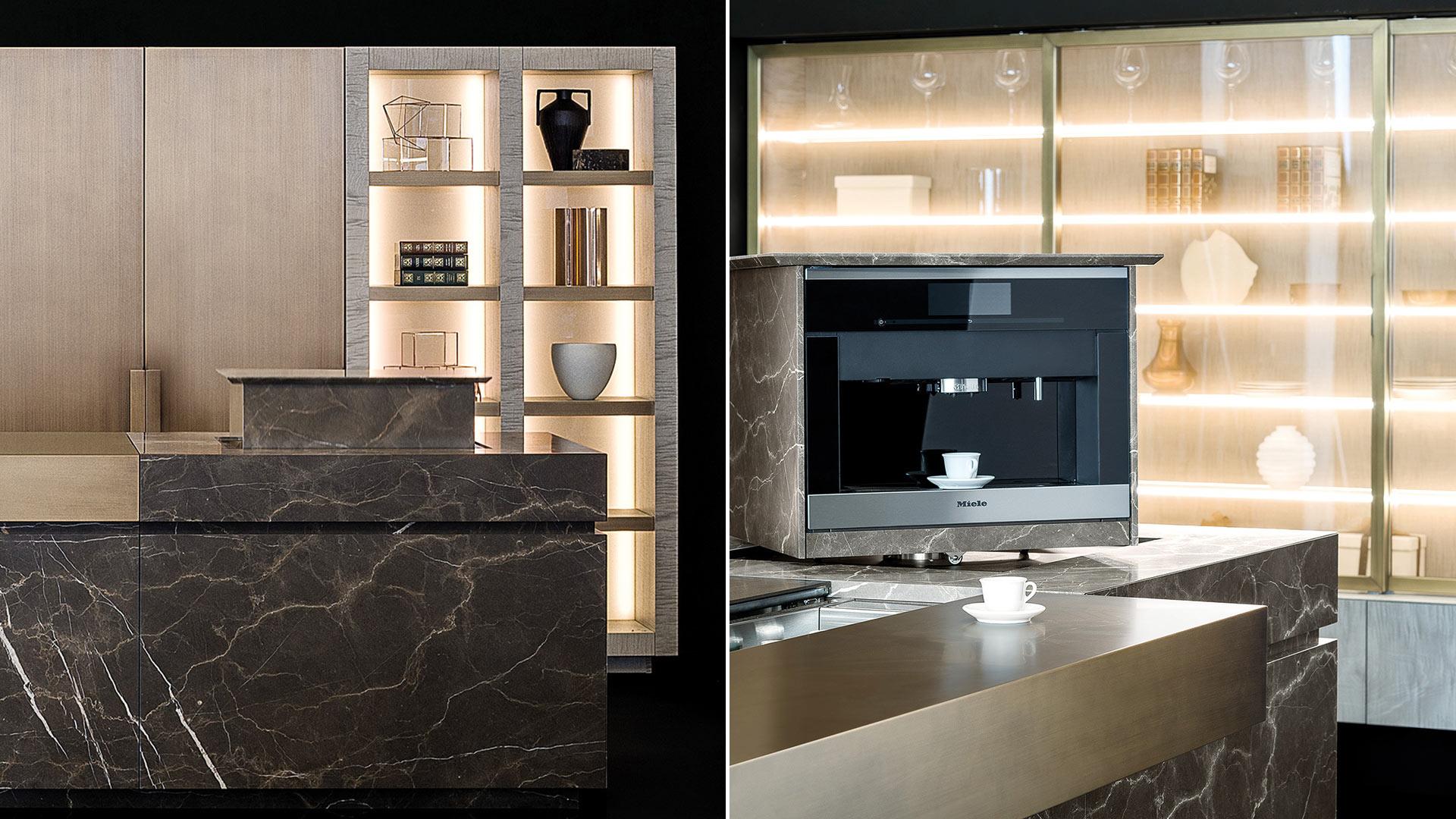 NEOLITE - Cucine su Misura | TM Italia Cucine - neolite-dittico-elemento-caffettiera