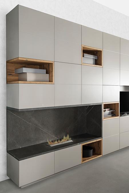 Cucina e Living: soluzioni su misura per arredare l'open space - 1-PARETE-ATTREZZATA-lugano1