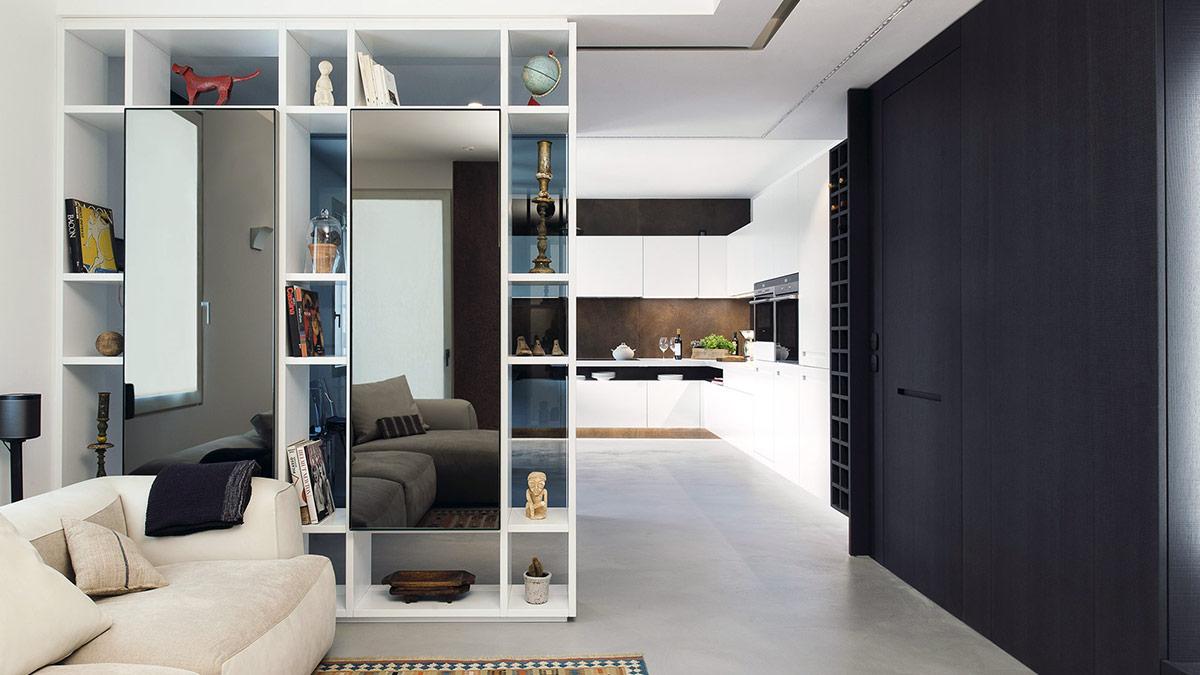 Cucina e Living: soluzioni su misura per arredare l'open space - 3-CONTINUITAESTETICA-cucinasospesarecanati-1