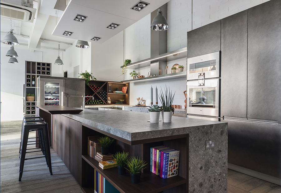 A Londra due nuovi progetti cucina su misura per il nuovo showroom di HUB Kitchen - TM_LN17_0003