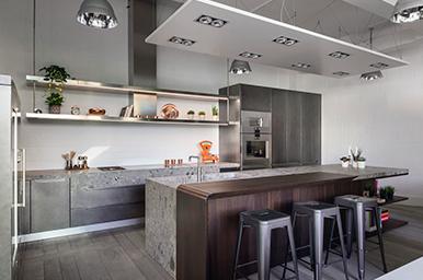 20170501 – Cucina con isola in Gres, legno e metallo