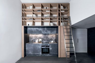 20150103 – Corinthian stone kitchen with wood elm