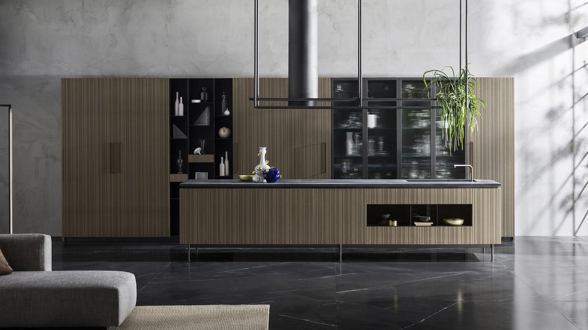 Design kitchen, wood kitchen - Collection RUA - TM_MI2018_Rua_001