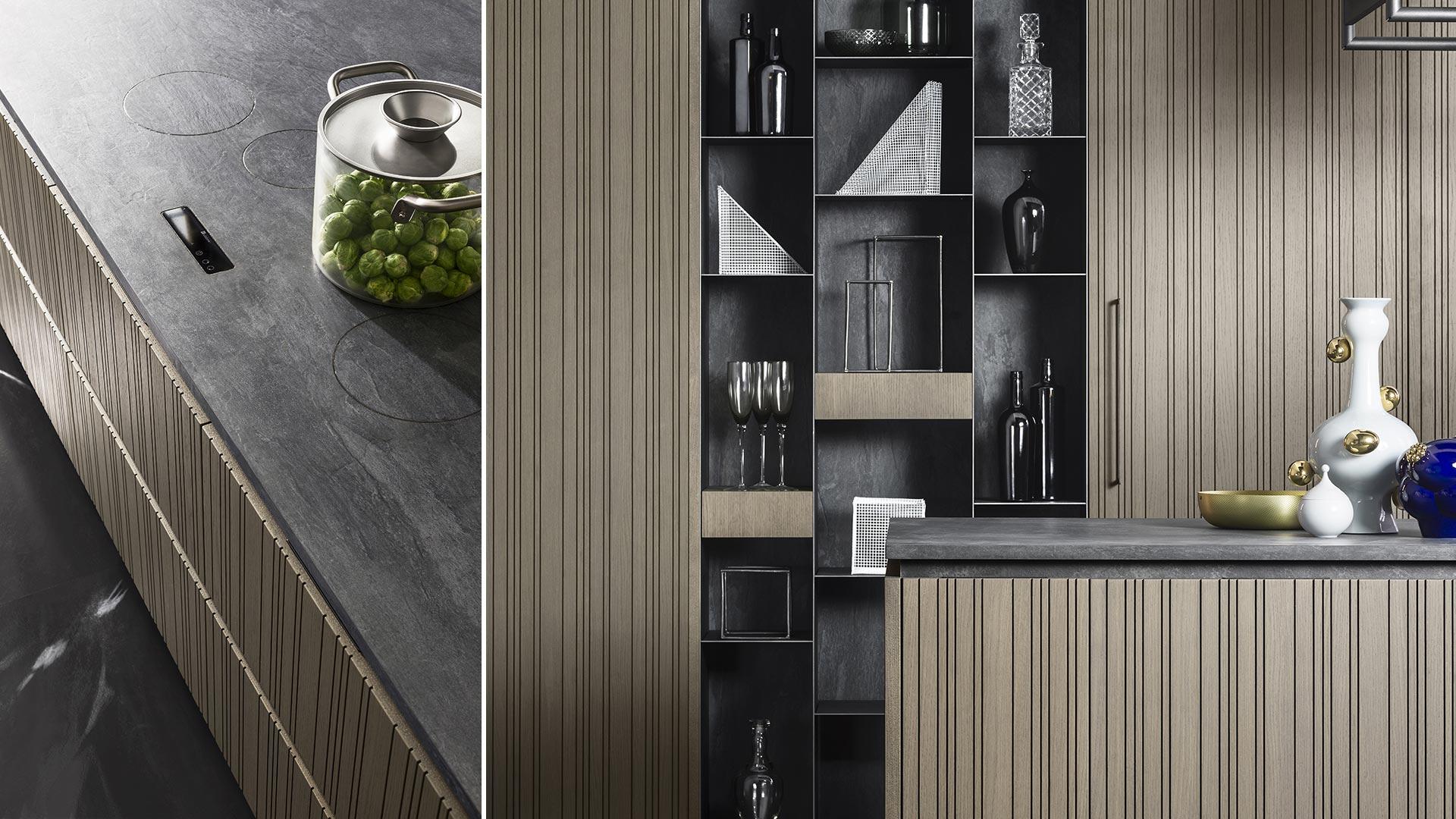 Cucina con isola e cucina il legno collezione RUA - TM_MI2018_Rua_002