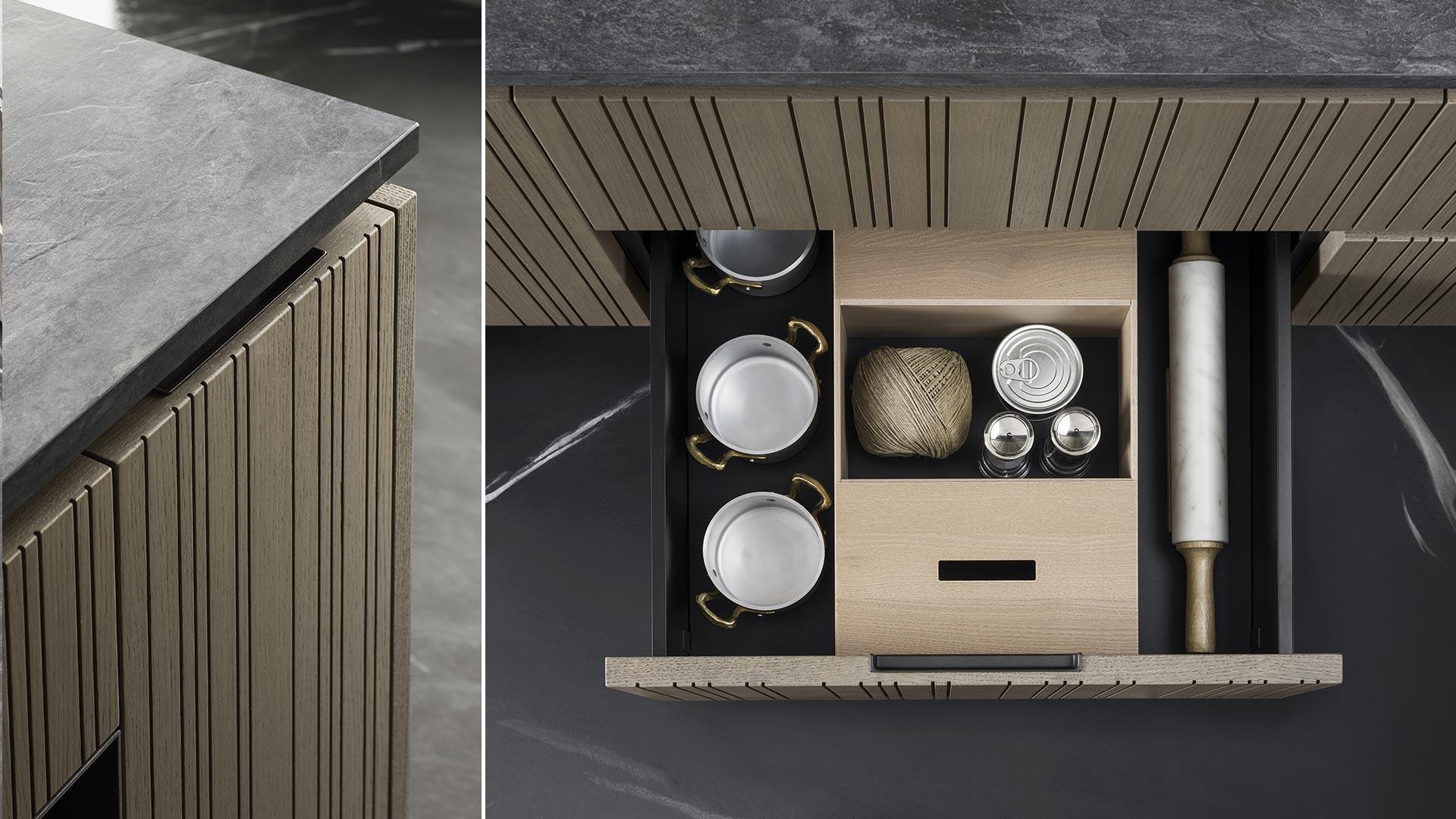 Cucina con isola e cucina il legno collezione RUA - TM_MI2018_Rua_003