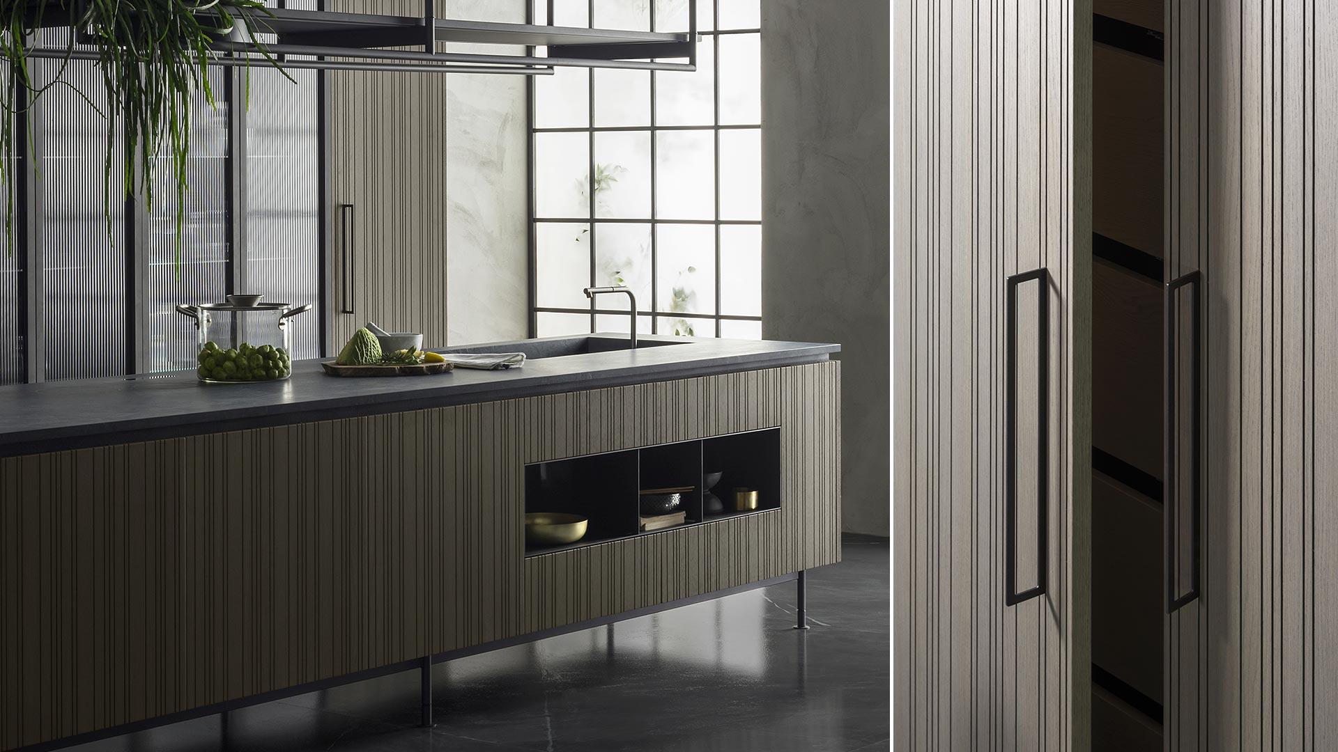 Cucina con isola e cucina il legno collezione RUA - TM_MI2018_Rua_004