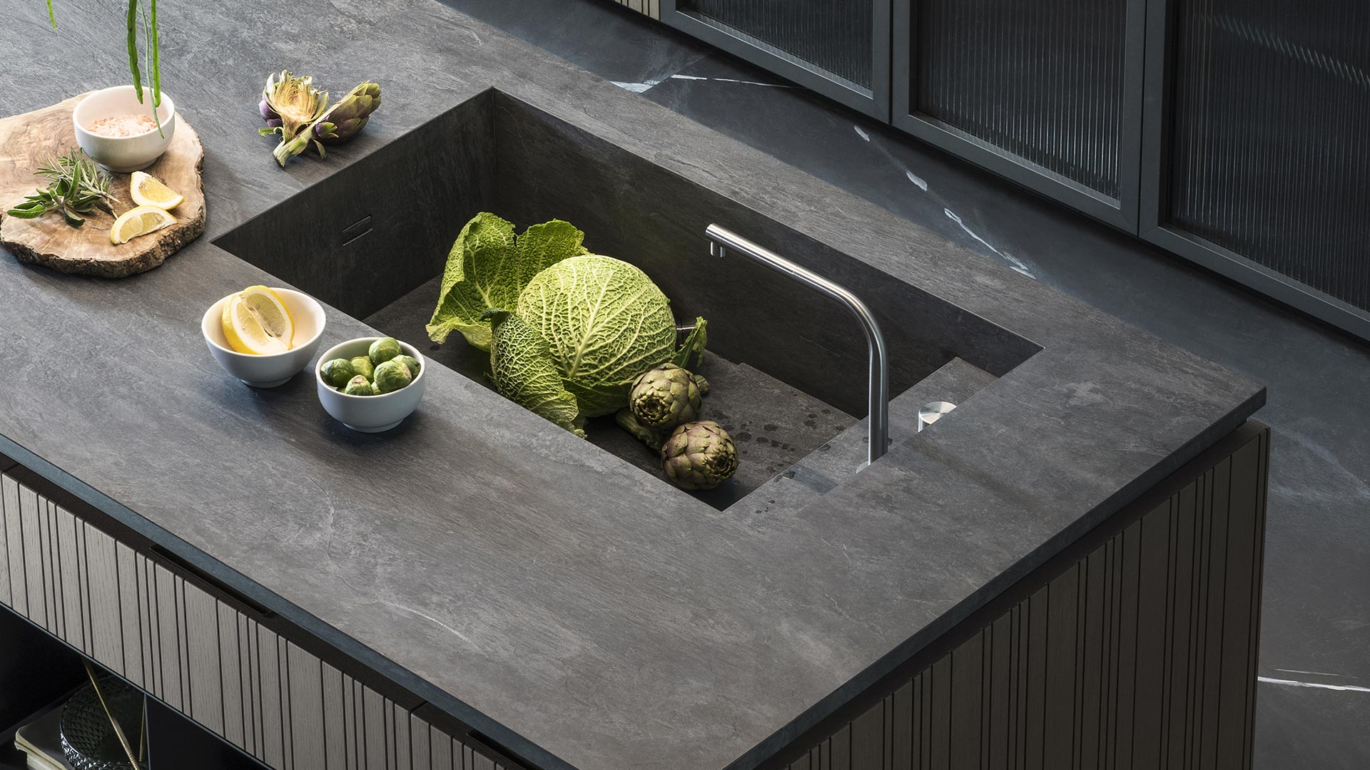 Design kitchen, wood kitchen - Collection RUA - TM_MI2018_Rua_005