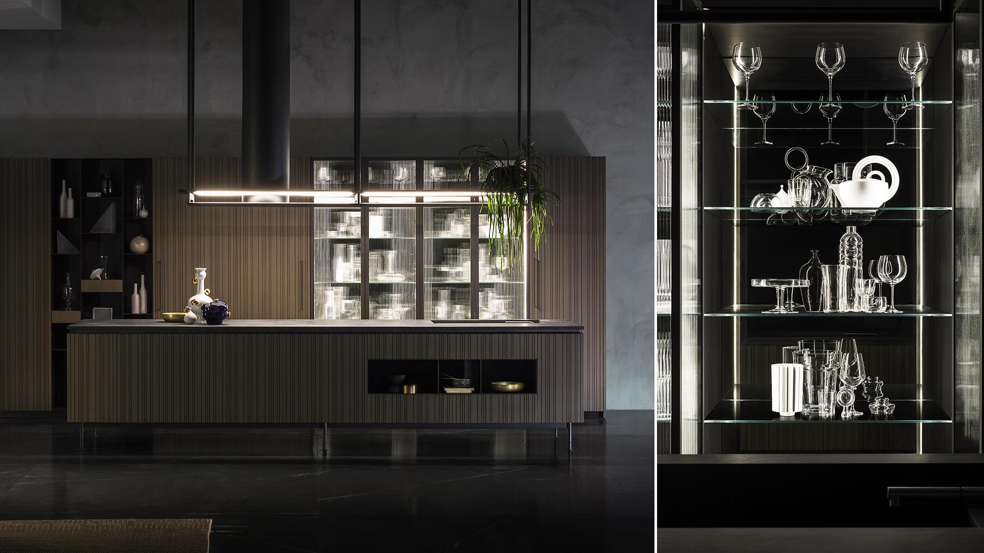 Cucina con isola e cucina il legno collezione RUA - TM_MI2018_Rua_006B