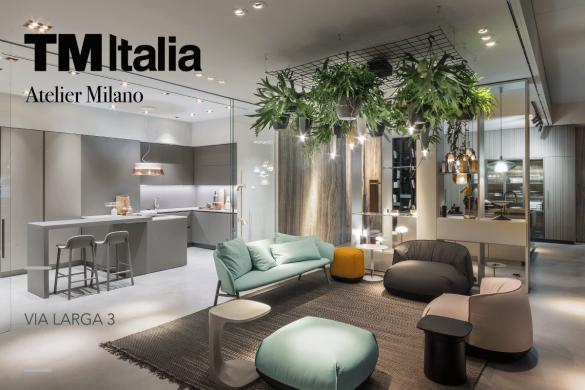 Via Larga 3. In Milan, TM Italia lives a new exhibition space dedicated to high Italian design.