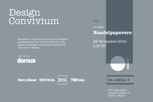 Terzo incontro Design Convivium con Ruadelpapavero in ViaLarga3
