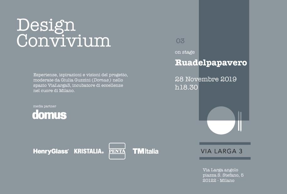 Design Convivium, the third event in ViaLarga3 with Ruadelpapavero