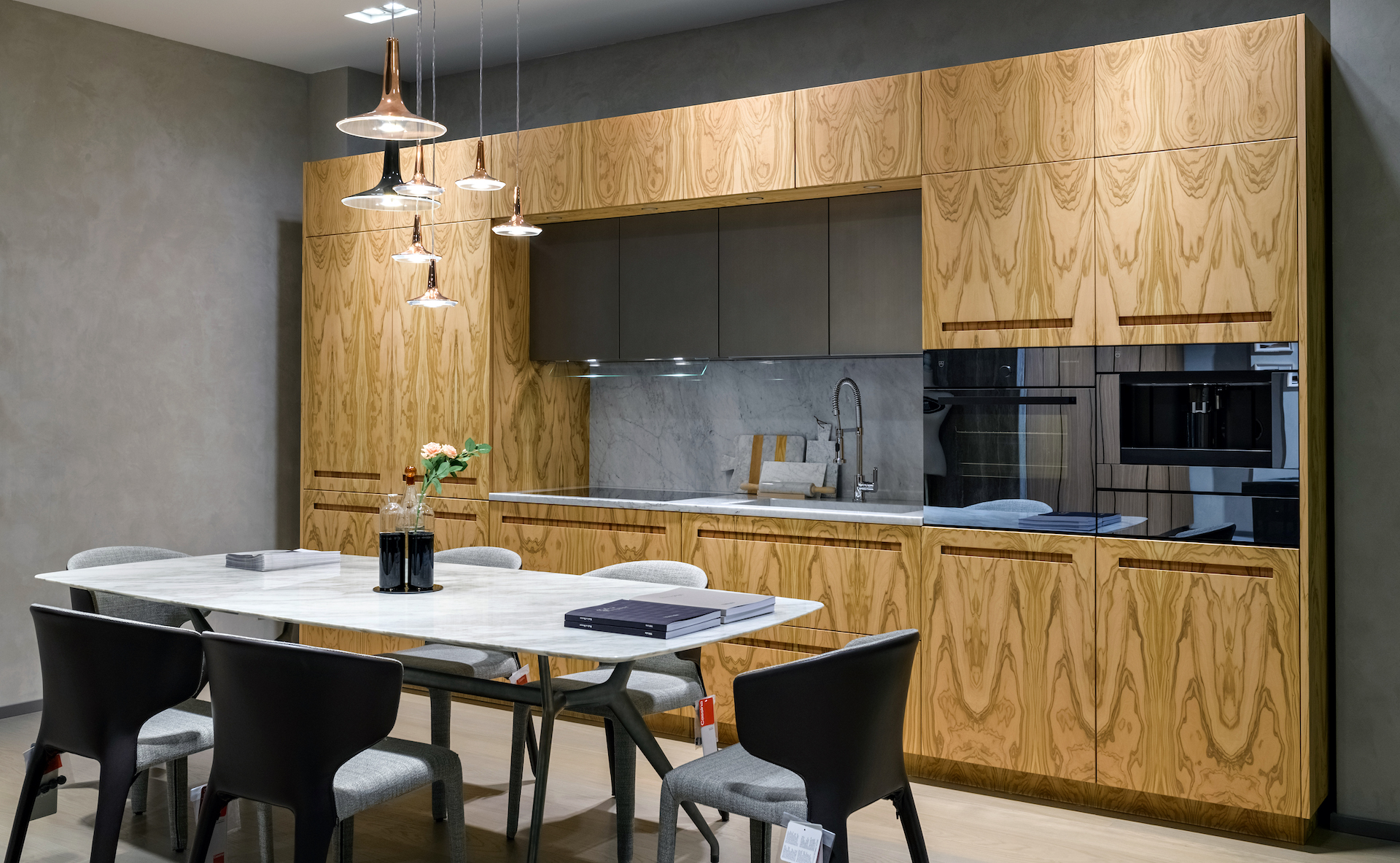 Linear kitchen designed on D90 concept inside the showroom in Kiev - TMItalia_D90-a-Kiev_gallery02