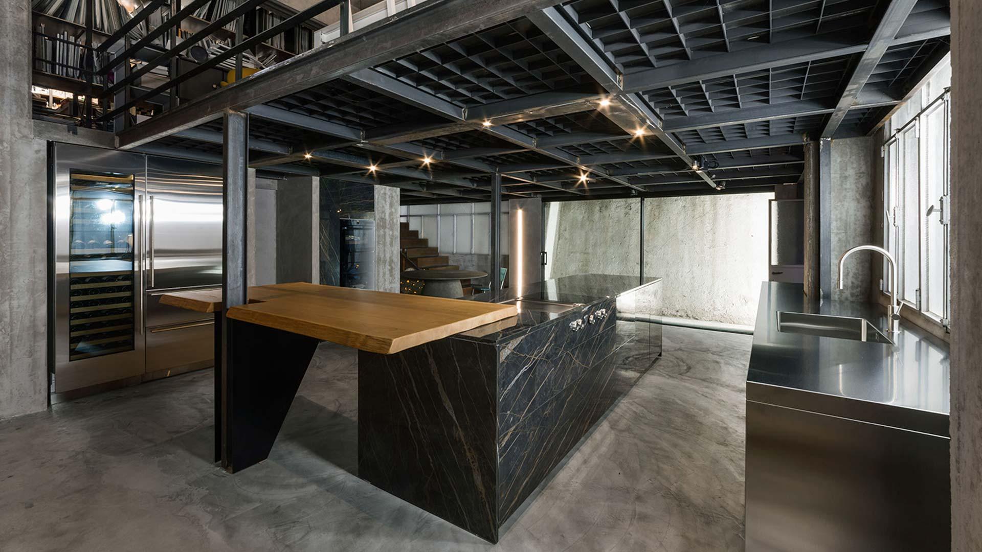Con Ikonos Design, un progetto cucina realizzato all'interno dello showroom a Roma - TM19_RM_G180-D90-IKN_expo2_001