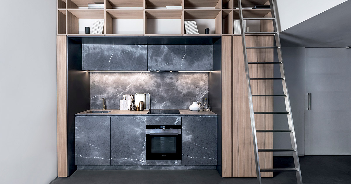 Cucine in materiali naturali | Progetti Cucine Design TM Italia - archivio-materiali-Inspiring-ucina-a-scomparsa-in-pietra-di-Corinto